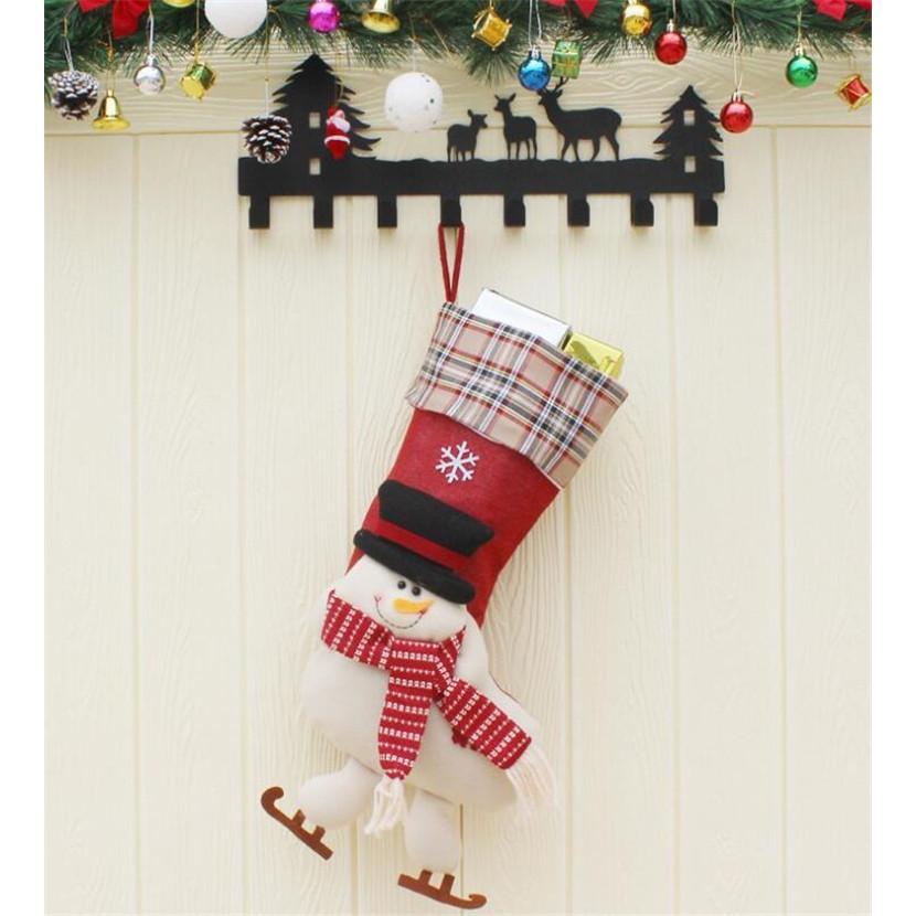 クリスマスブーツ プレゼント袋 サンタ トナカイ ラッピング 雪だるま 3種 お菓子袋 ソックス 靴下 キャンディ入れ ギフトバッグ|angelmimi|04