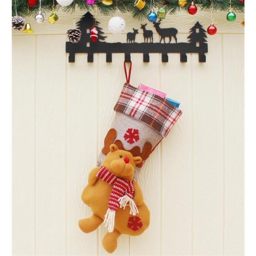 クリスマスブーツ プレゼント袋 サンタ トナカイ ラッピング 雪だるま 3種 お菓子袋 ソックス 靴下 キャンディ入れ ギフトバッグ|angelmimi|05