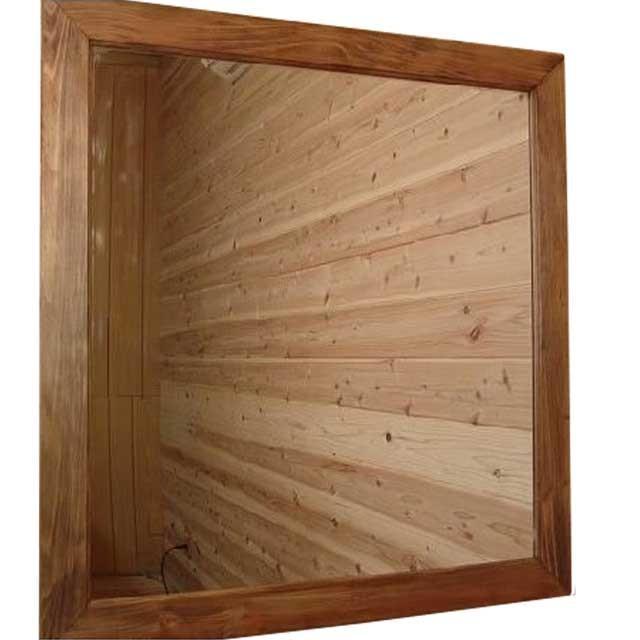 大型ミラー アンティークブラウン アンティークブラウン アンティークブラウン 鏡 w80d2h85cm 壁掛けミラー ひのき 木製 受注製作 db9