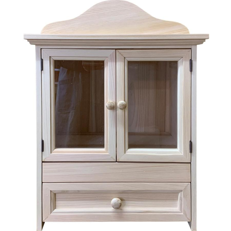 ペット用メモリアルハウス 透明ガラス スライド棚 ボード 木製取っ手 引き出し 40x31x45cm 無塗装白木 木製 ひのき ハンドメイド 受注製作