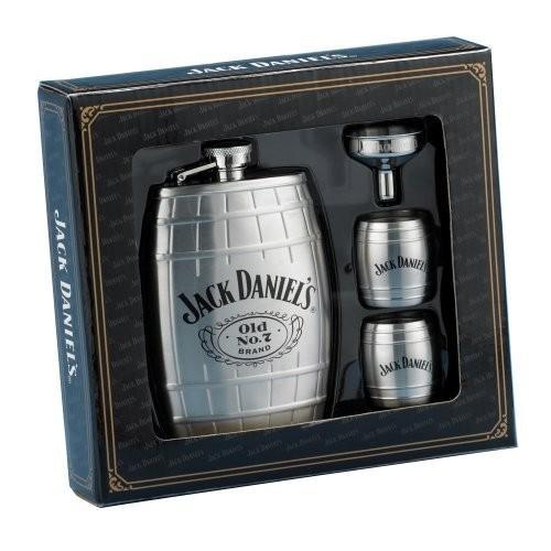 ジャックダニエルバレルフラスコ/ギフトセット Jack Daniels Barrel Flask/Gift Set 並行輸入