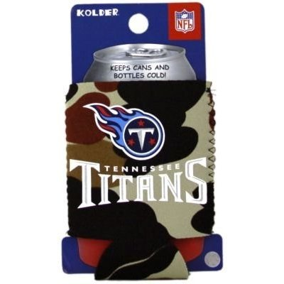TENNESSEE TITANS CAMO CAN KADDY KOOZIE COOZIE COOLER