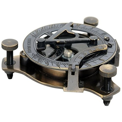 Old Modern Handicrafts ND012 Sundial Compass in wood box - Small