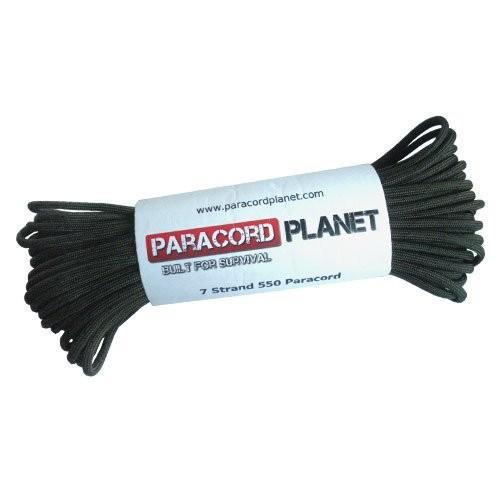 Paracord Planet 25*' 550lbタイプIII OdグリーンwithブラックFleckパラコード