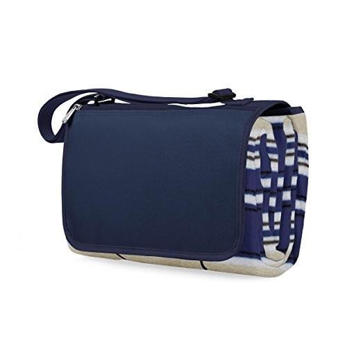 (Blue Stripe) - Picnic Time 'Outdoor Picnic Blanket Tote XL', Blue Stripe
