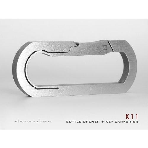 Mas Design プレミアムグレード5 チタンキーカラビナ - K11