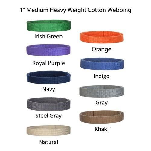 """5ヤードコットンウェビング***1*"""" Medium Heavy Weight網- 21色を選択 5_1WEB_Gray"""