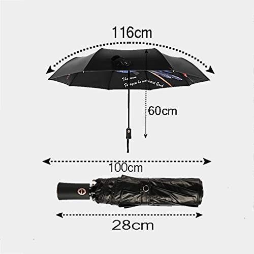 折りたたみ自動カササギ〓美油絵傘太陽傘黒プラスチック雨デュアルユース紫外線保護 (色 : B)