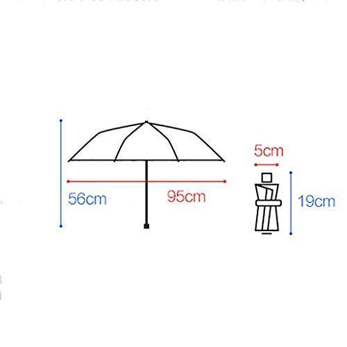 日焼け防止日焼け止めUV超軽量小折りたたみ雨兼用ミニ日焼け防止傘8リブ5つ折り傘 (色 : B)