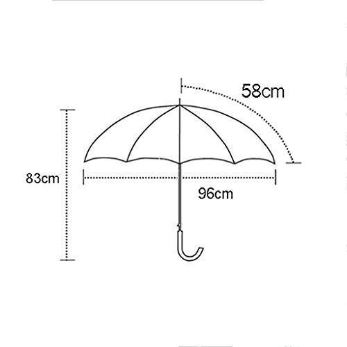 新鮮で汎用性の高いセーラーストライプロングハンドル傘フルスチールリブ耐久性 (色 : B)
