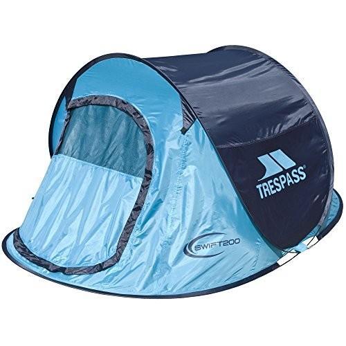 (トレスパス) Trespass Swift 200 ポップアップテント テント アウトドア キャンプ フェス (ワンサイズ) (ターコイズブルー)