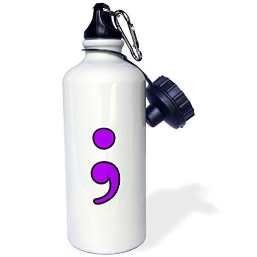 """ローズWB _ 223966*_セミコロン1*"""" Aqua """"スポーツウォーターボトル、21オンス、ホワイト"""