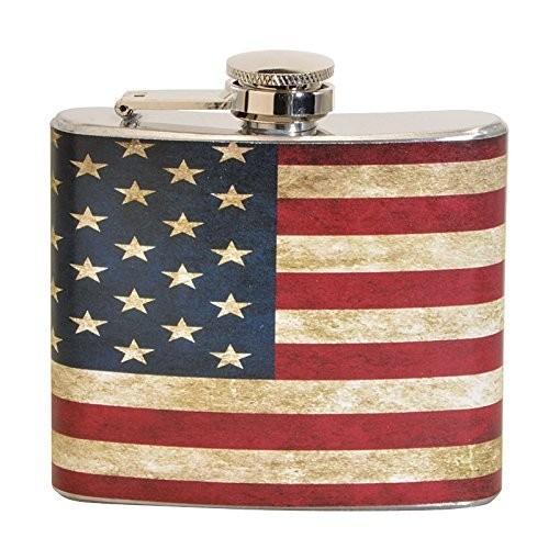 ヴィンテージAmerican Flag 5オンスステンレス鋼フラスコ