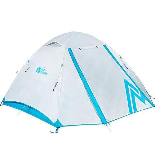 テント - アウトドア・ギア登山キャンプ・ウィンドプルーフとレインストーム・ダブル3人用テント アウトドア製品 (色 : 白)