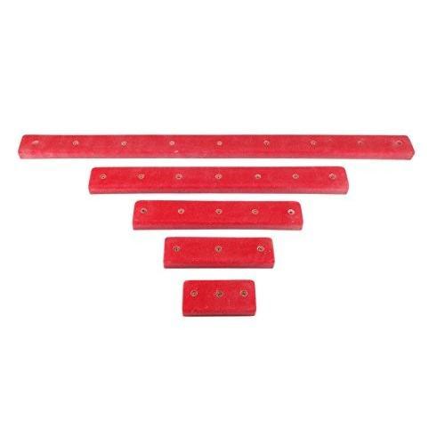 障害物コースレール5本 (ねじ式) | クライミングホールド | レッド