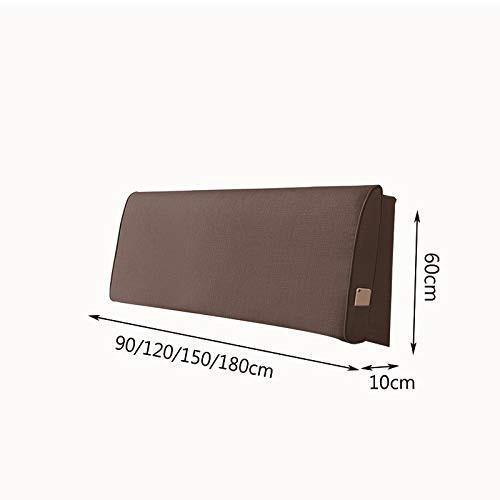 枕ベッドの柔らかい袋の大きい背部生地の倍のベッドのフードのソファーの腰椎の枕取り外し可能および洗濯できる (色 : Brown, サイズ さいず :