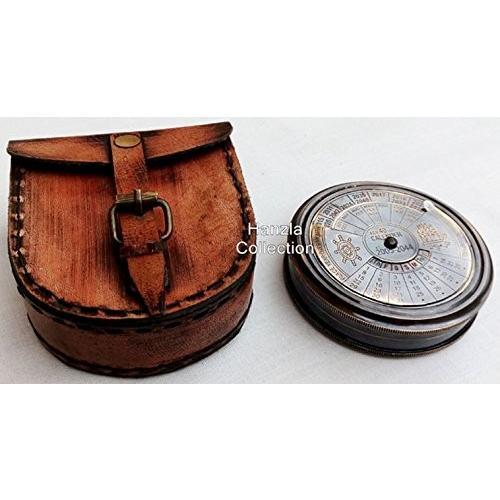 ヴィンテージMarine真鍮コンパス~ Nautical Perpetual Calendar with時間ゾーン
