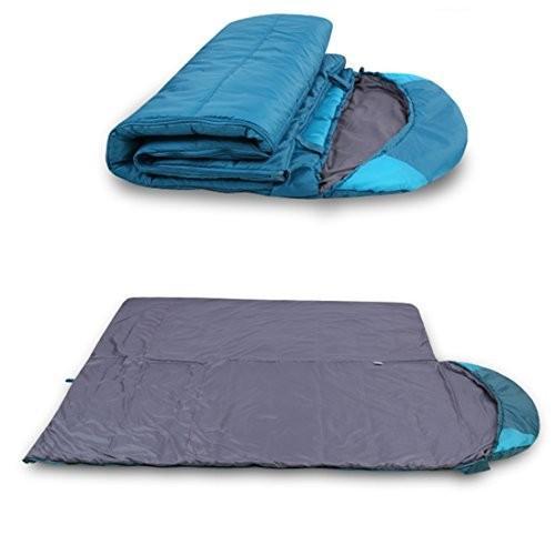 封筒型 寝袋 シュラフ スリーピングバッグ コンパクト 収納 軽量 (ブルー, 200*78CM) [並行輸入品]