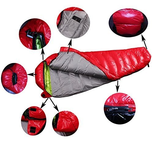 LMR寝袋 シュラフ マミー型 ダウン寝袋 コンパクト収納 軽量型 登山 アウトドア 車中泊 防災用 災害時 避難用 耐寒 [最低温度-15度]