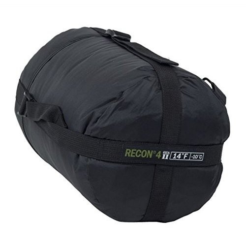 EliteサバイバルシステムRecon 4*Sleepingバッグ ブラック RECON4-B