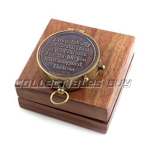 Maritime出荷ナビゲートブラックアンティークSmallコンパスアンカーデザイン木製ボックス***Perfect Gift Idea For