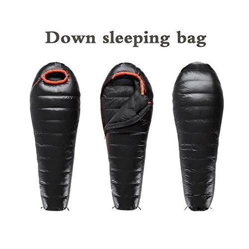 ELLEN ダウン寝袋 バックパック用 超軽量 マミーダウンバッグ 軽量圧縮袋付き