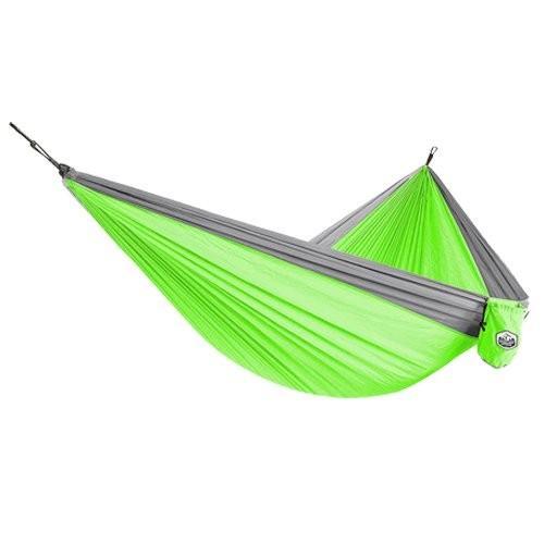 Greenlightアウトドアダブル&シングルキャンピングハンモックー軽量ポータブルパラシュートハンモックのバックパッキング、ハイキング、旅行