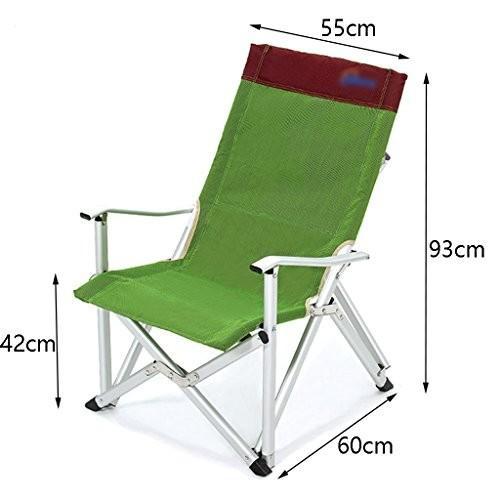 ZGL 旅行椅子 屋外折りたたみチェアポータブルビーチカジュアルチェア折りたたみ釣り用スツール背もたれ椅子屋外椅子の色オプション ( 色 : 緑 )