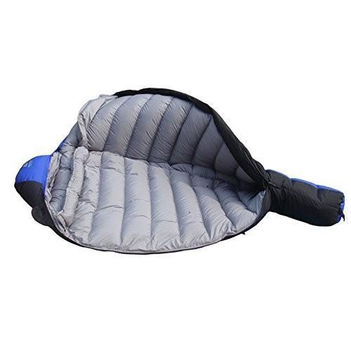 キャンプ用寝袋ミイラ軽量ダブルレイヤーコンビネーションサックを備えたポータブル防水コンフォートを大きくして、ハイキングを楽しむアウトドアアクティビティ