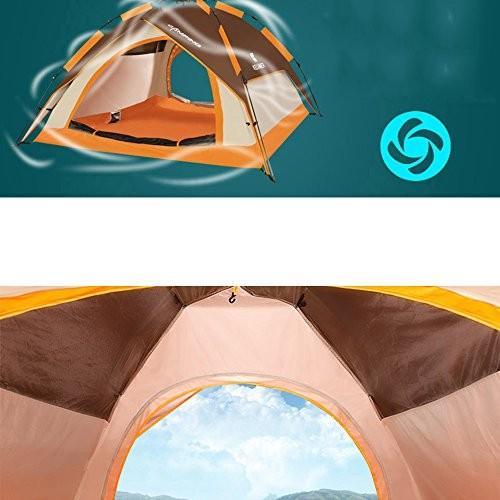 QFFL zhangpeng テント二重自動テントアウトドア3-4家族防雨テントキャンプ野生キャンプ8色オプション トンネルテント (色 : D)