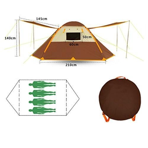 テント、自動オックスフォード布Rainproof屋外キャンプテント (色 : 2)
