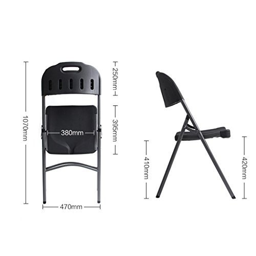 ベンチ 屋外折りたたみチェアポータブルレジャー快適な背もたれのオフィストレーニングチェア (A++) (色 : ブラック)