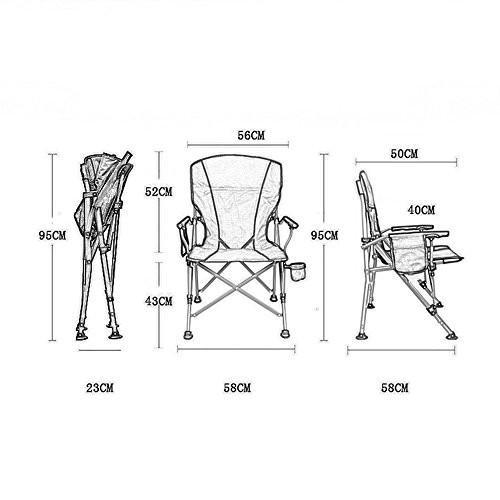 ベンチ キャンプ折りたたみチェア屋外釣りポータブルビーチ超軽い背もたれの椅子(58 * 58 * 95センチメートル) (A++) (色 : B)