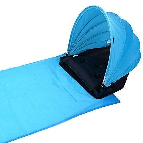CHENYUE ポータブル ビーチ サンシェード キャノピー フェイス シェード ピロー テント 調節可能 フェイス サンビーチ シェード 保護