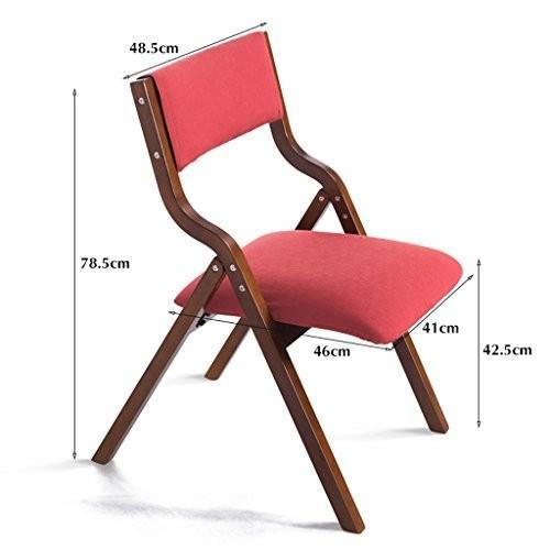 GFL椅子折りたたみ椅子ソリッド木製ホームコンピュータダイニングテーブルデスク椅子(l41*W46h78.5*cm) (A + + +