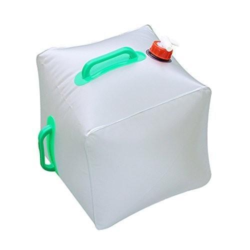 MIJOYE 折りたたみ式 ウォーターコンテナ 5ガロン/20L ポータブルウォーターキャリアバッグ 緊急キューブ ウォーターバッグ 食品グレード