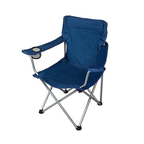 ベンチ 屋外折りたたみ椅子ポータブルカジュアル釣りビーチアームレストキャンプバックレストチェアブルー (A++)