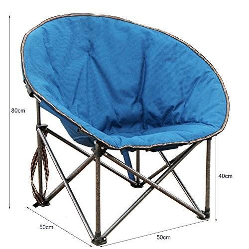 椅子 ホームアウトドアキャンプチェアポータブルレジャー釣りピクニック折りたたみチェア (色 : 青)