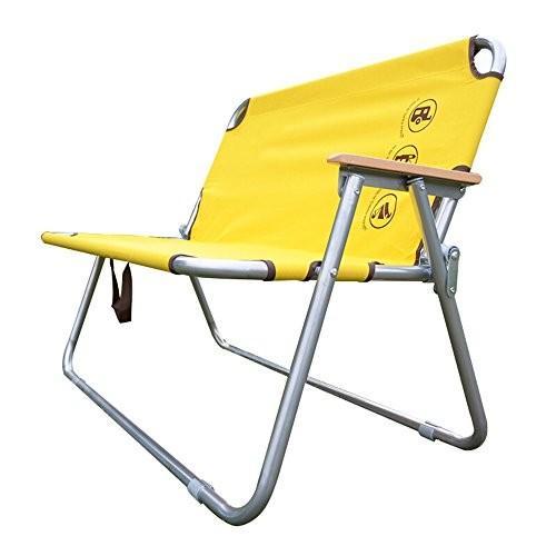 椅子 屋外折り畳み式二重椅子ポータブルレジャーチェアイエローL100cm * W41cm * H75cm
