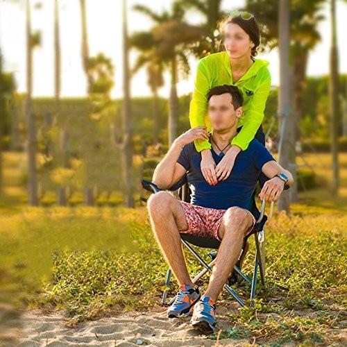 wssf-アウトドアキャンプ折りたたみ椅子スチールフレーム厚通気性背もたれラウンジ椅子釣り椅子ポータブルビーチピクニックハイキング旅行椅子