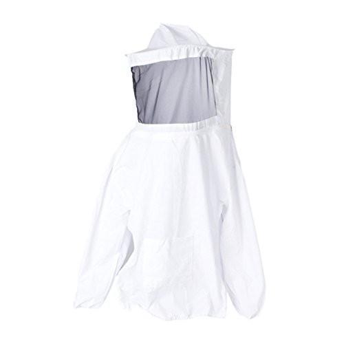 gudelaa養蜂ジャケット養蜂スーツProfessional養蜂養蜂保護帽子&スカーフBee保護ジャケットスモックホワイト