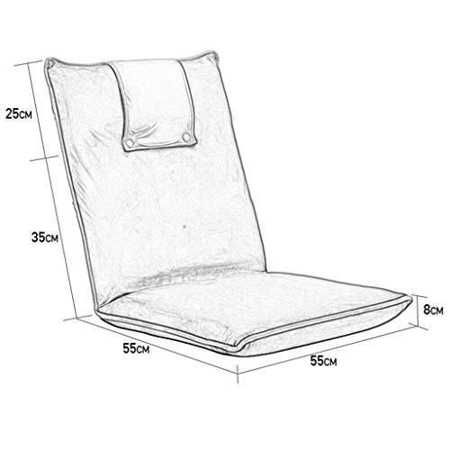 椅子 床の椅子折りたたみ式ポータブル屋外キャンプピクニックLegless湾の窓の椅子 (色 : 緑)
