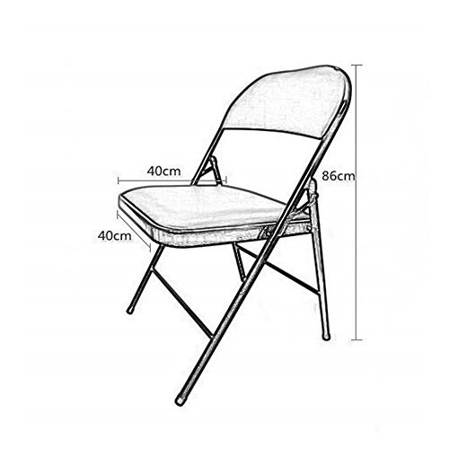ベンチ 折り畳み式椅子背もたれレザースポンジで満たされた椅子、オフィストレーニング会議用家庭用ダイニングブックルーム (A++) (色 :
