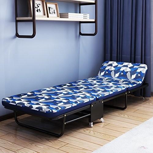 L&J ラウンジチェア, ポータブル 安定 可能 折りたたみベッド スポンジ 1 ベッド, オフィス バルコニー 庭 パティオ ビーチ