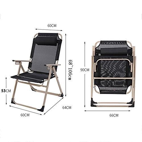 QFFL 多機能強化椅子/調節可能な快適なコンピュータチェア/カジュアルなリクライニング/バルコニー屋外の便利な背もたれの椅子 アウトドアスツール