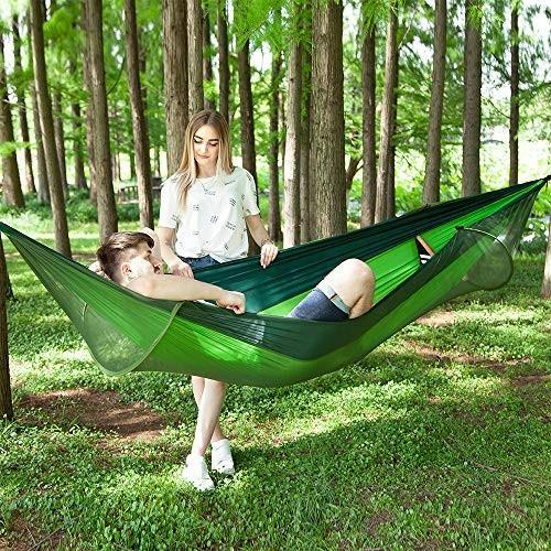 Survivalist アウトドア キャンプ パラシュートクロス ネット ハンモック テント 蚊除け スイング テント 蚊帳 ハンモック テント