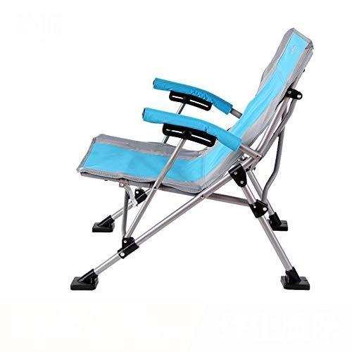 キャンプコンサート折りたたみ椅子折りたたみ椅子キャンプチェア折りたたみアームチェアビーチチェアブルー