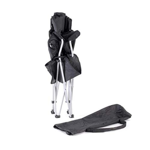 XY チェア・ベンチ 折りたたみキャンプ用椅子屋外用背もたれビーチチェア折りたたみチェアポータブルピクニックチェア釣りチェア (色 : 黒)