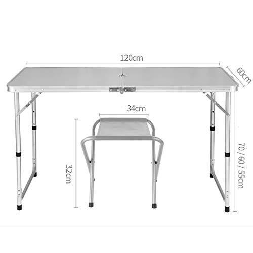ポータブル折り畳み式庭折りたたみテーブル&チェアセット - 3/5ピース屋外用家具セット -