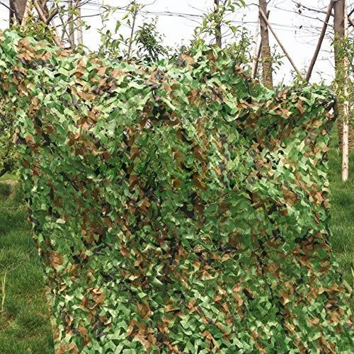 カモフラージュネット、ジャングルカモフラージュ屋外バードウォッチングサンシェードカバーマウンテングリーン装飾ネット、マルチサイズ (サイズ さいず
